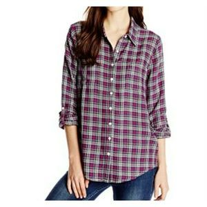 Soft Joie Eirene Yarn Dyed Plaid Button-front Top